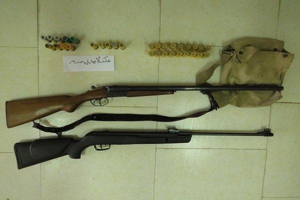 2 شکارچی متخلف در راز و جرگلان دستگیر شدند