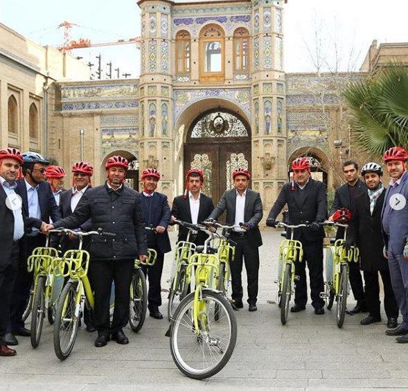 دوچرخه سواری شهرداران کلان شهرها از بهشت تا پاستور