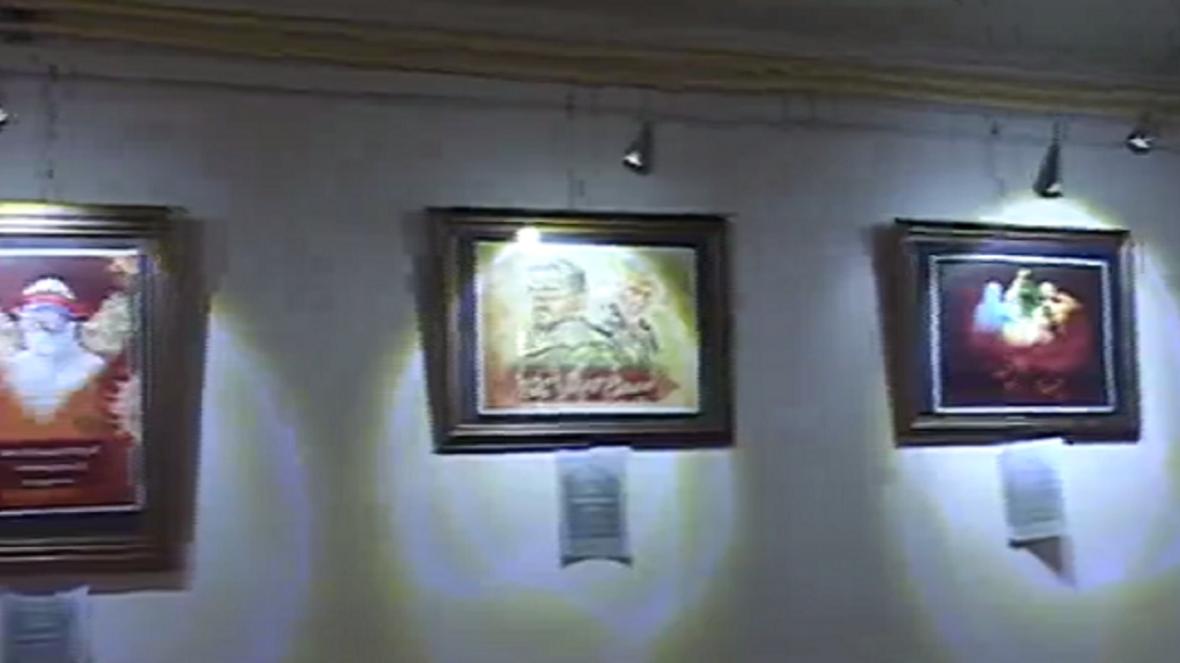 برپایی نمایشگاه عکس از نینوا تا خاکریزها در بوئین زهرا